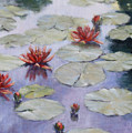 Smooth Sailing - Lilies In Monets Garden by L Diane Johnson