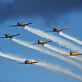 Snj  T-6 Texan And Canadian Harvard Aerobatic Team by Bruce Beck