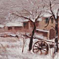 Snow On The Farmhouse by Mario Zampedroni