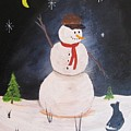 Snowman And Cat by Rich Fotia