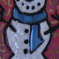Wood Burned Snowman Series by Amy Parker Evans