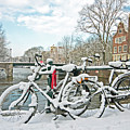 snowy Amsterdam in the Netherlands by Nisangha Ji
