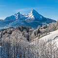 Snowy Church In The Bavarian Alps In Winter by JR Photography