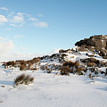 South Hessary Tor In The Snow II by Helen Northcott