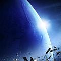 Space Junk Orbiting Earth by Johan Swanepoel