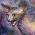 Sphynx Cat Painting by Svetlana Novikova