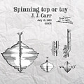 Spinning Top Or Toy Patent Art by Justyna JBJart