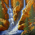 Spring Cascade by Frank Wilson