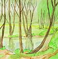 Spring Landscape, Painting by Irina Afonskaya