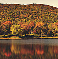 Squantz Pond In Autumn by Library Of Congress