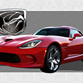 S R T  Viper With  3 D  Badge  by Serge Averbukh
