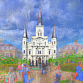 St Louis Cathedral  by Larry Braun