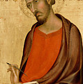 St Luke by Simone Martini