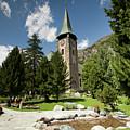 St Peter's Anglican Church In Zermatt by Aivar Mikko