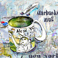 Starbucks Mug New York by Miki De Goodaboom