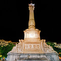 Statue Of Dom Pedro Iv by Benny Marty
