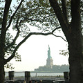 Statue Of Liberty From Ellis Island by Frank Mari