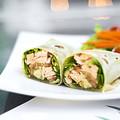 Steamed Salmon And Salad Wrap by Jacek Malipan