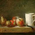Still Life With A White Mug by Jean Simeon Chardin