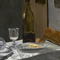 Still Life With Bottle Carafe Bread And Wine by Claude Monet
