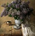 Still Life With Bouquet Of Fresh Lilacs by Jaroslaw Blaminsky