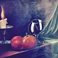 Still Life With Candle by Donald Paczynski