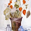 Still Life With Chinese Lanterns by Peggy King