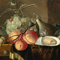 Still Life With Fruit And Oysters On A Table by Thomas Mertens