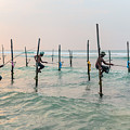 Stilt Fishermen - Sri Lanka by Joana Kruse