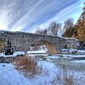 Stone Bridge At Webster Falls by Desmond Bell