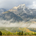 Storm On Grand Teton by Sandra Bronstein