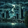 Storm Over Frankfurt by Reinhold Silbermann