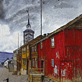 Street In Roros by Harald Sohlberg