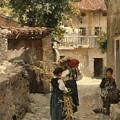 Street In Venetia Henry Woods by Eloisa Mannion