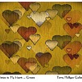 Striae To My Heart ... Greens by Terry Mulligan