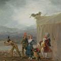 Strolling Players by Francisco Goya