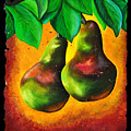Study Of Two Pears by OLena Art Lena Owens