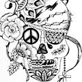 Sugar Skull #3  War And Peace by Roseann Amaranto