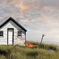 Summer Shack With Hammock By The Ocean by Sandra Cunningham