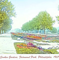 Sunken Gardens Fairmount Park Philadelphia 1907 by A Gurmankin