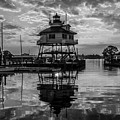 Sunrise At Drum Point Lighthouse by Kaye Seaboch