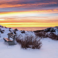 Sunrise At Marginal Way by Dennis Dube