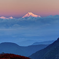 Sunrise On Mount Kanchenjugha At Dawn Sikkim by Rudra Narayan Mitra