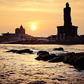 Sunrise Under Kanyakumari Cape Comorin Artmif.lv by Raimond Klavins
