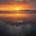 Sunset And Sand Ripples by Spencer Baugh