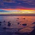 Sunset At Mauritius by Amanda Mohler