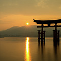 Sunset At Miyajima's Torii by Sam Garcia