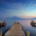 Sunset At The Panajachel Pier On Lake Atitlan, Guatemala by Sam Antonio Photography