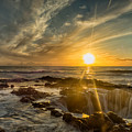 Sunset At Thor's Well by Dan Leffel