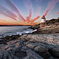 Sunset, Castle Hill Lighthouse  by Joy Schmitz